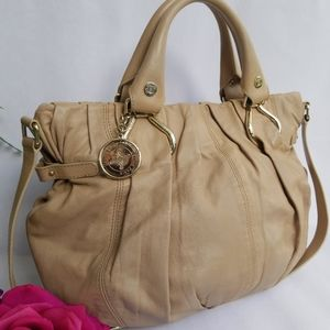 Authentic Celine Handbag Ruched Laether